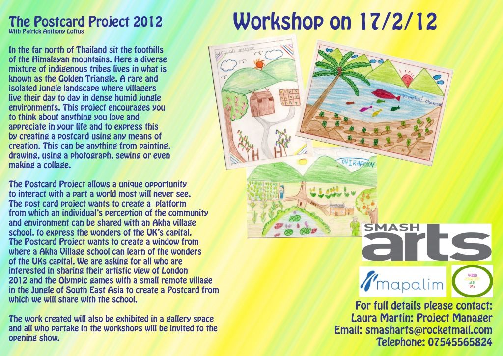 FREE Children's Postcard Workshop…Roll up Roll up! | World Community