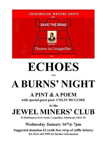 Tonight is echoes in Craigmillar